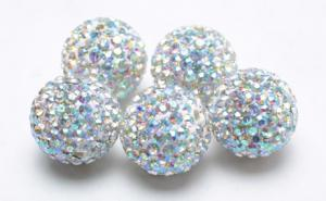 China Shamballa Rhinestone Crystal Pave Argil Beads  4 -16mm Pave Crystal Ball Beads RH13328 on sale