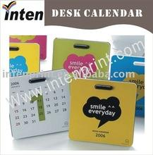 China paper full color table calendar for promotion on sale