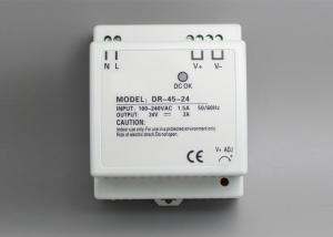 China 47 - 63Hz DIN Rail Switching Power Supply DR - 45W Load Stability on sale