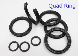 China AS568 NBR Metric Quad Rings Seals , Pneumatics / Hydraulic Y Ring 70 Shore on sale