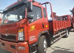 Transport Double Axles HOWO Light Duty Trucks With 12.00R20 Tyres