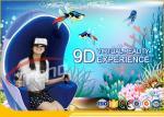 China Orange Luxury Seat Amusement Park 9D VR Simulator With 360 Degree Rotating Platform wholesale
