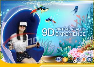 China Multi Players Interactive 9D Virtual Reality Cinema With LED Touch Screen Single Seat on sale