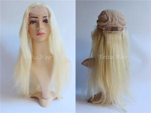 China 7A Grade Platinum Blonde Lace Front Human Hair Wigs For White Women on sale