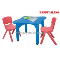 Day Care Centre Kindergarten Classroom Furniture Square Table With Plastic Material