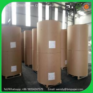 China 80 90 110 115 120gsm 840mm Width two side coated c2s coated glossy art paper board matt paper couche paper on sale