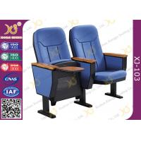 China 560mm Center Distance Fabric Cushion Commercial Theater Seating Chairs For Meeting Room​ on sale