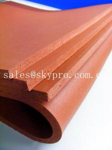 China Surface smooth / shark skin / embossed Neoprene Rubber Sheet , Silicone foam rubber sheet on sale