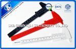 Red / Black / White Plastic Flexible Vernier Calipers Rectangle For Engineer