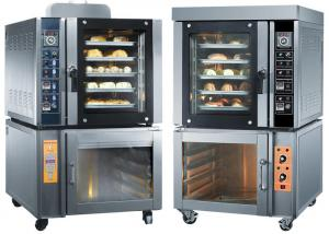 China Steam Spray Commercial Baking Ovens Convection Toaster Oven With Proofer on sale