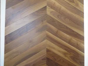 China American walnut Chervon parquet engineered wood flooring; Chervon in American Walnut wood flooring on sale