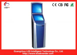 China Indoor Dual Screen Kiosk For Bill Payment Kiosk With Thermal Printer-80mm Paper Width on sale