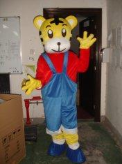 Quality yellow tiger mascot cartoon costume for sale