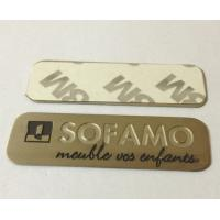 Stainless steel name plate with chemically etched letters, 3M adhesive sticker sign plates