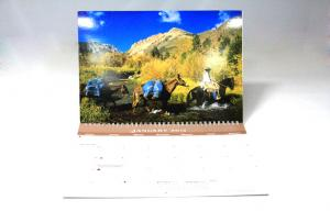 China Art Paper Colourful Custom Photo Calendar Printing services For Hanging Wall on sale