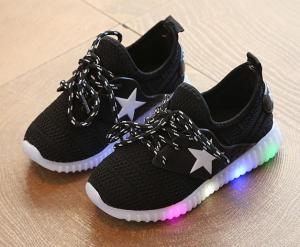 China Hot selling lace up style kids light up shoes wholesale on sale