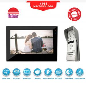 China Morningtech wire peephole color video door phone/video door bell/ intercom system support exit button on sale