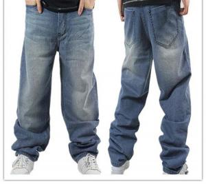 China Customizable Clothing Loose Plus Size Denim Jeans Pants for Men,Fat Man Denim Trousers for Men on sale