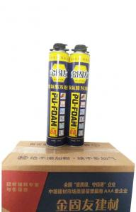 China Water Resistant Polyurethane Expanding Foam Glue Foam Crack Filler For Small Gaps on sale