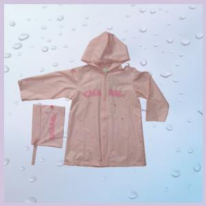 "China 20""Cute PVC RainCoats With Hood , Long Childrens Rain Wear on sale"