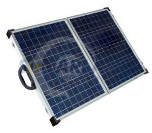 China Aluminium Frame Solarland 12V 80W Folding Portable Solar Panel Chargers for Camping on sale
