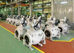 China Worm Gear Operation Top Entry Flanged Ball Valve With Easy Maintenance on sale