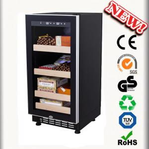 China 88L Mini Wooden Cigar Humidor Made In China Cigar Cabinets on sale