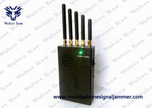 China 3W Total Output Cellular Signal Blocker , Mini Portable Cellphone Jammer WIFI 3G 4G LTE on sale
