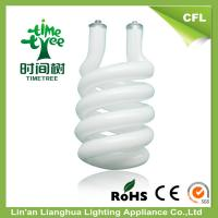 High Lumen Half Spiral 14mm CFL Glass Tube , Triple Tube Compact Fluorescent