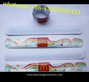 China Factory directly custom single color silicone slap ruler bracelet/ wristband/ rubber band on sale