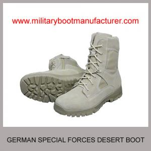 China Wholesale China made Germany Special Forces Military PU Rubber Dual Density Sole Light-weight Tan Color Desert Boot on sale