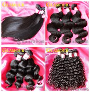 China 100% human hair natural black virgin Indian straight wavy curly remy hair on sale