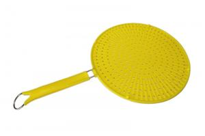 China silicone strainer with steel handle ,durable silicone strainer filter on sale