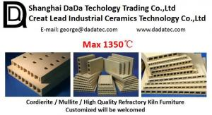 China High quality refractory Cordierite Mullite Extruded batt kiln furnitures on sale