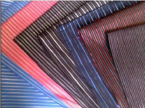 China Cotton Nylon Spandex Yarn Dyed Shirting Fabric on sale