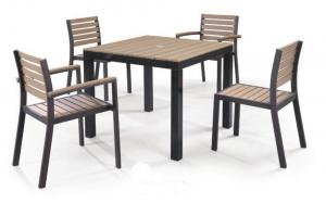 China LJC074 polywood outdoor furniture set on sale