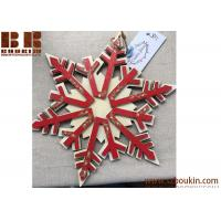 China Handpainted wooden snowflake Wooden snowflake, handpainted acrylic paints on sale