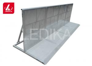 China Road Crowd Control Steel Shelter Folding Barrier For Block Corner Event on sale
