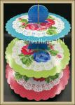 China Party tableware 3 tier printed  paper cupcake stand  baby shower party cake stand wholesale
