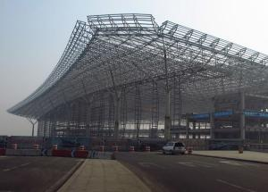 China Low Carbon Truss Steel Building Structures For Airport Project And Railway Statio on sale
