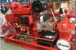 High Head Split Case Fire Pump For National Grain Storages 102 Meter