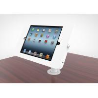 China Adjustable Goose Neck Ipad Kiosk Stand Metal Desk Mounted Enclosure Powder Coated Finish on sale