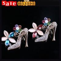 Colorful Heel Shoes Brooches Women Weddings Jewelry Broches, Collar Hijab Islam Pin Up
