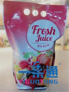 China 5L Syrup BIB Bag In Box / Aseptic Bag For Apple Juice , Long Life Using on sale