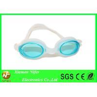 Rose Lens White  Frame Trap Silicone Swimming Glasses / Kids Swim Goggle