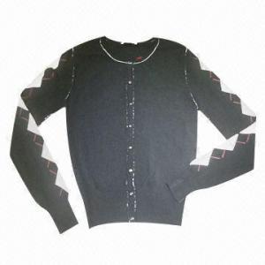 China 98% Rayon and 2% Spandex Ladies' Cardigan on sale
