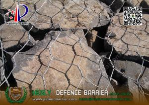 China Hot dipped galvanized Wire gabion mesh boxes | 80X100mm hexagonal hole on sale