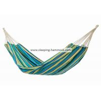 China Comfortable Two Person Brazilian Double Hammock Camping Yellow Blue Green Stripe on sale