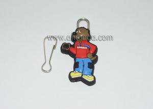 China Custom and supply cartoon figure pvc zipper puller,various zipper slider on sale