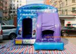 China Blue House  inflatable Jumping Inflatable Bouncy Castle wholesale